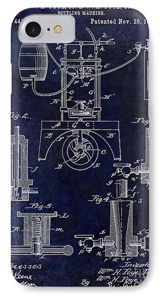 1890 Wine Bottling Machine  IPhone Case by Jon Neidert