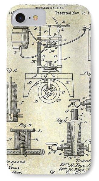 1890 Wine Bottling Machine IPhone Case by Jon Neidert