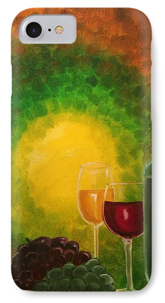 IPhone Case featuring the painting Wine by Brindha Naveen