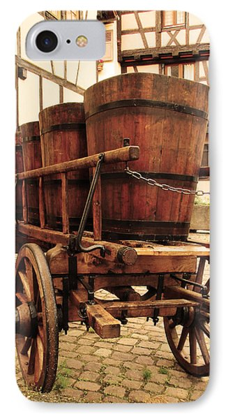 Wine Cart In Alsace France IPhone Case by Greg Matchick