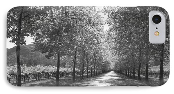 Wine Country Napa Black And White IPhone Case