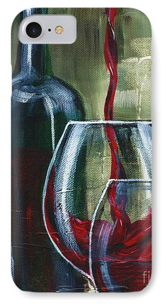 Wine For Two Phone Case by Lisa Owen-Lynch