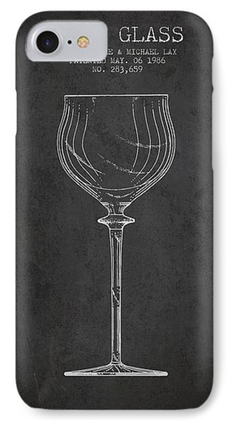 Wine Glass Patent From 1986 - Charcoal IPhone Case