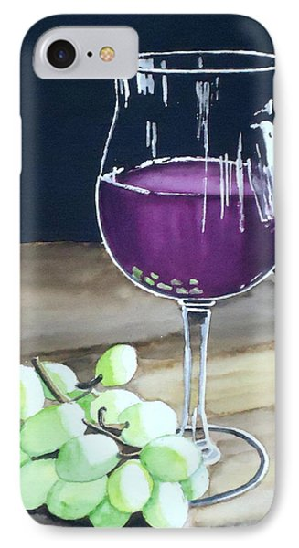 Wine Glass With Grapes IPhone Case