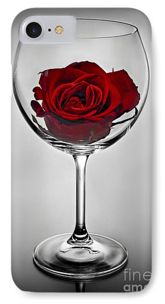 Wine Glass With Rose Phone Case by Elena Elisseeva