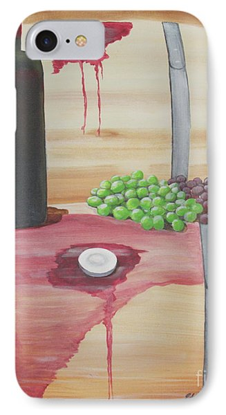 Wine N Grapes IPhone Case