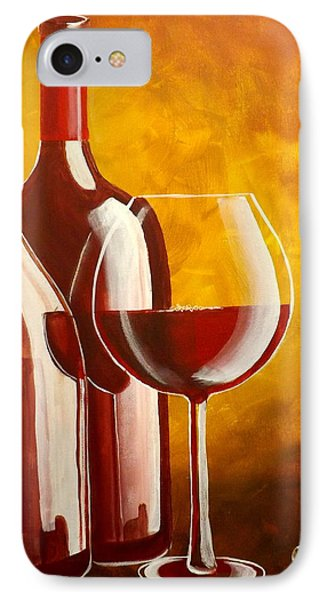 IPhone Case featuring the painting Wine Not by Darren Robinson