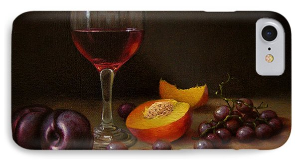 Wine Peach And Plums IPhone Case