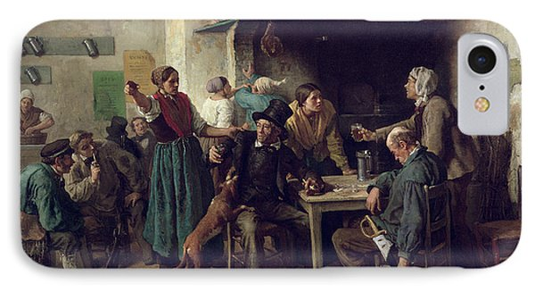 Wine Shop Monday, 1858 Oil On Canvas IPhone Case by Jules Breton
