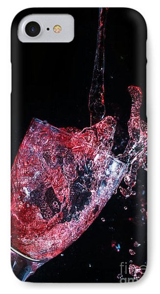 Wine Spillage Frozen In Time IPhone Case