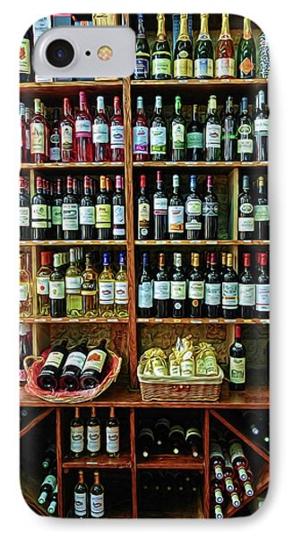 IPhone Case featuring the photograph Wine Store Provence France by Dave Mills