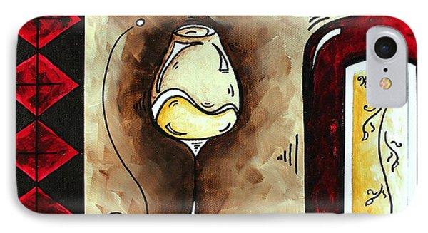 Wine Tasting Original Madart Painting Phone Case by Megan Duncanson