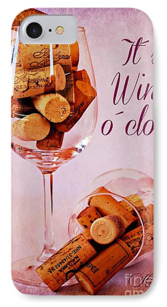 Wine Time IPhone Case by Clare Bevan