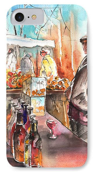 Wine Vendor In A Provence Market Phone Case by Miki De Goodaboom