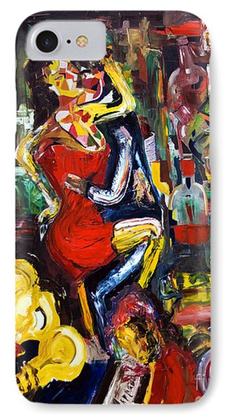 Wine Woman And Music Phone Case by James Lavott