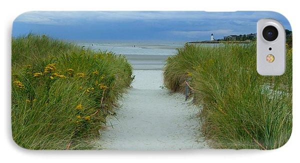 Wingaersheek Beach Path And Annisquam Lighthouse IPhone Case