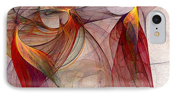 Winged-abstract Art Phone Case by Karin Kuhlmann