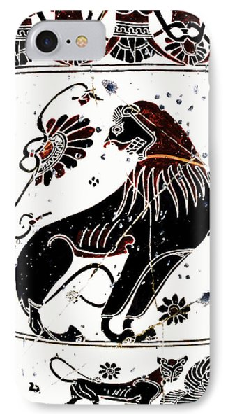 Winged Lion - Detail No. 1 Phone Case by Steve Bogdanoff