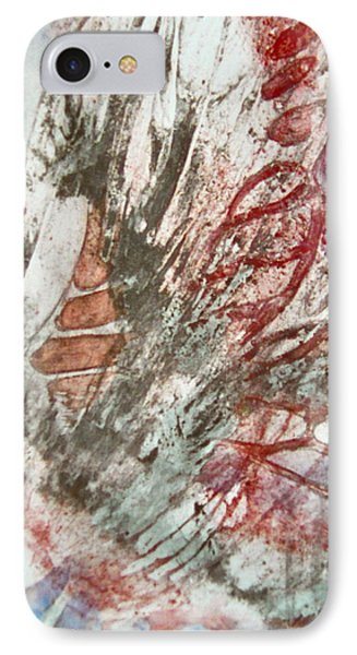 IPhone Case featuring the painting Winged Silence by Carolyn Rosenberger