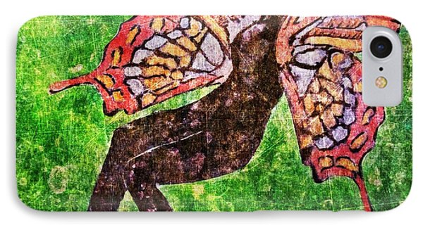 IPhone Case featuring the digital art Wings 17 by Maria Huntley