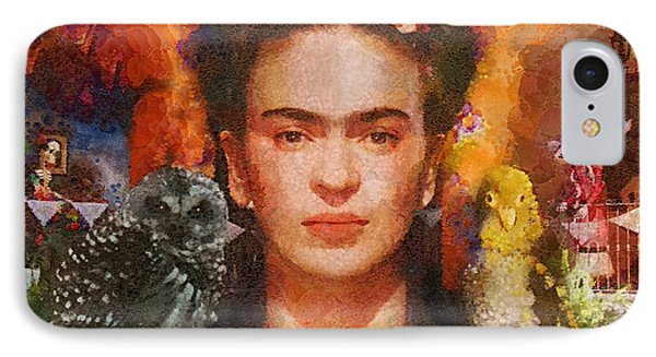Wings Of Frida IPhone Case by Mo T