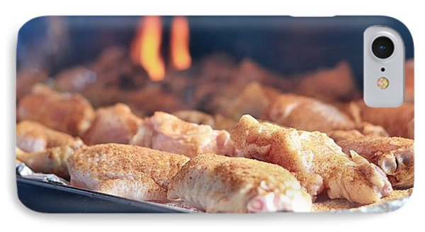 Wings On The Grill IPhone Case by Dan Sproul