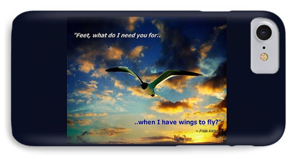 Wings To Fly IPhone Case