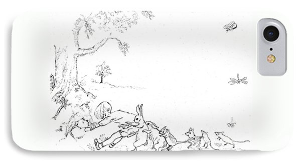 Winnie The Pooh And Crew In Pen  And Ink After E H Shepard IPhone Case by Maria Hunt