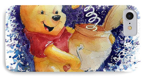 Winnie The Pooh And Honey Pot IPhone Case