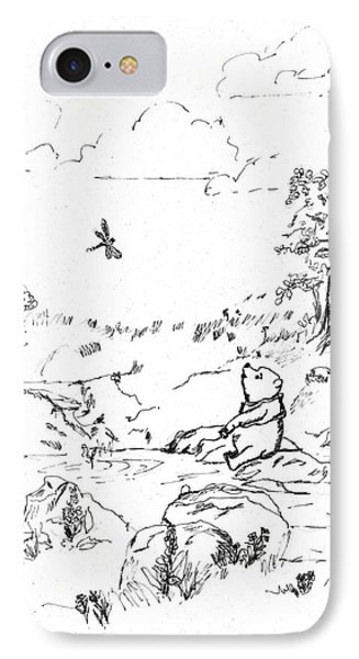 Winnie The Pooh By The Creek   After E H Shepard IPhone Case by Maria Hunt