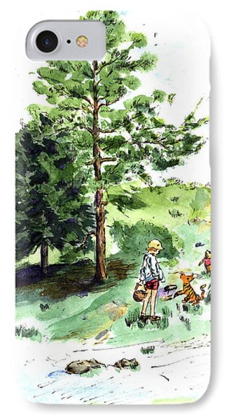 Winnie The Pooh With Christopher Robin After E H Shepard IPhone Case