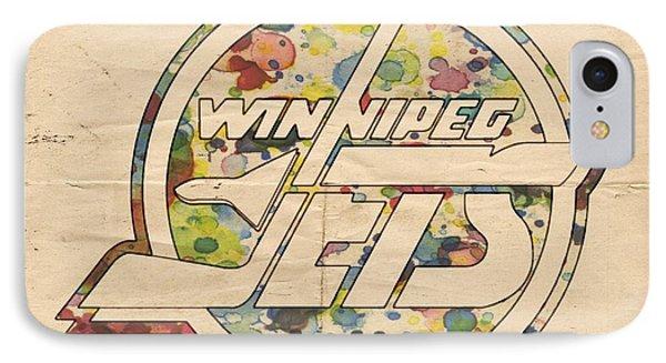 Winnipeg Jets Hockey Art IPhone Case