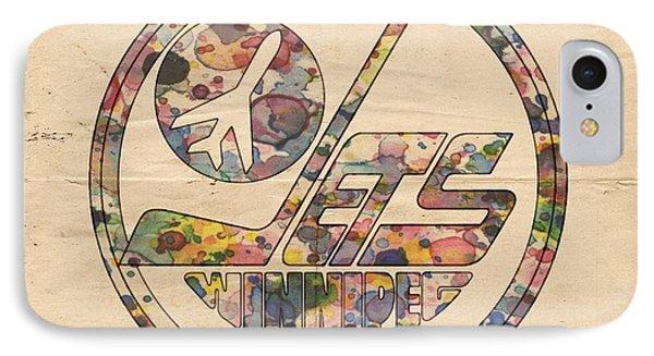 Winnipeg Jets Hockey Poster IPhone Case
