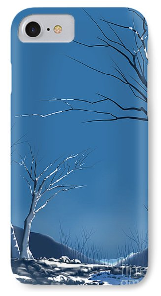 Winter Abstract IPhone Case by Bedros Awak
