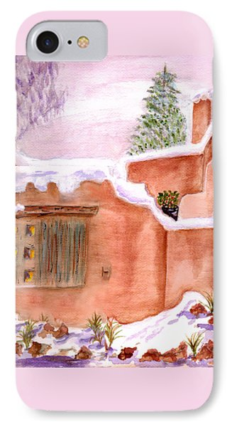 IPhone Case featuring the painting Winter Adobe by Paula Ayers