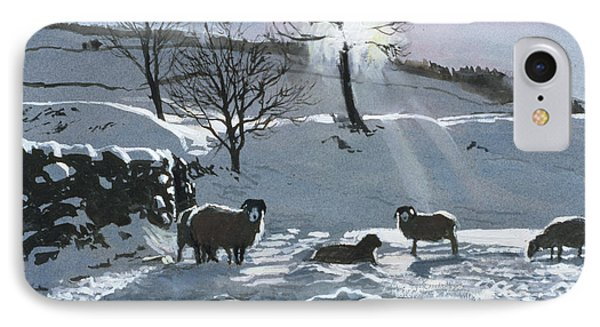 Winter Afternoon At Dentdale IPhone Case by John Cooke