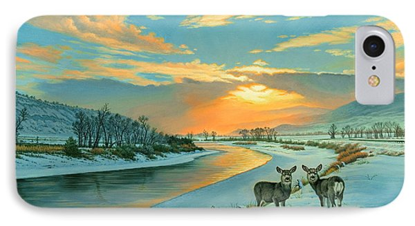 Winter Along The Yellowstone IPhone Case