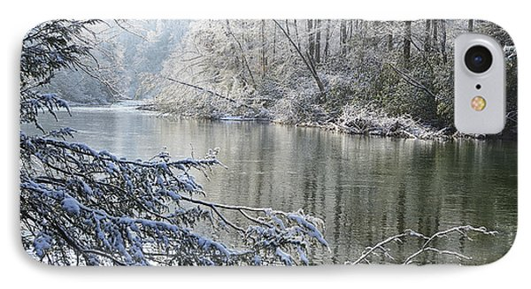 Winter Along Williams River Phone Case by Thomas R Fletcher