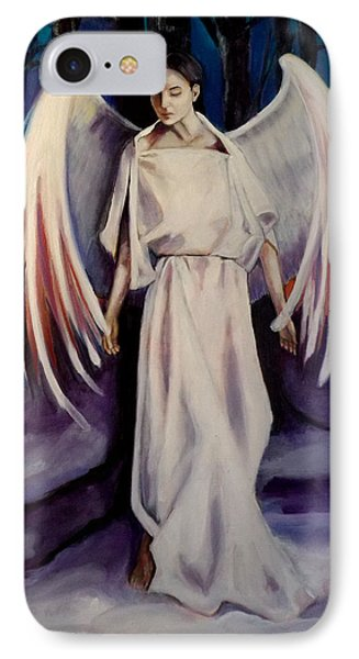 IPhone Case featuring the painting Winter Angel by Irena Mohr