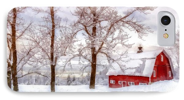 Winter Arrives Watercolor IPhone Case by Edward Fielding