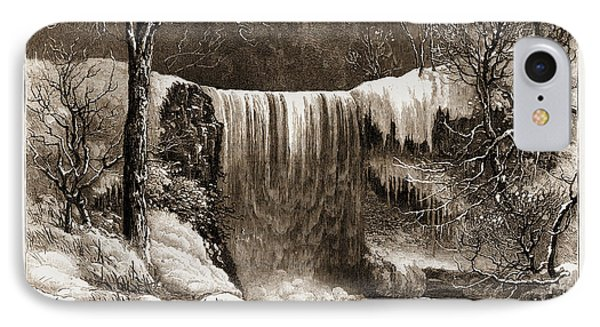 Winter Aspect Of The Falls Of Minnehaha, Minnesota IPhone Case