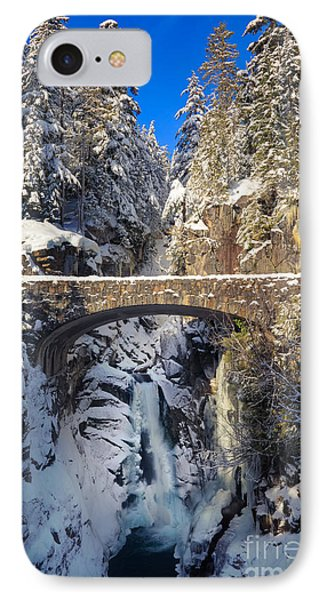 Winter At Christine Falls Phone Case by Inge Johnsson