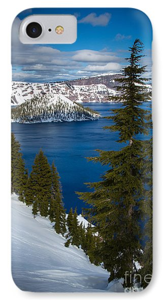 Winter At Crater Lake IPhone Case by Inge Johnsson