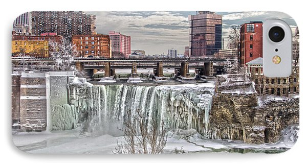 Winter At High Falls IPhone Case by William Norton