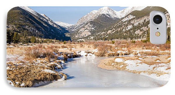 Winter At Horseshoe Park In Rocky Mountain National Park IPhone Case