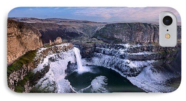 Winter At Palouse Falls Phone Case by Dan Mihai