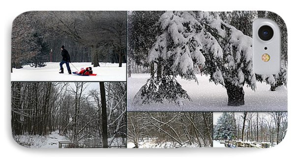 IPhone Case featuring the photograph Winter At Petrifying Springs Park by Kay Novy
