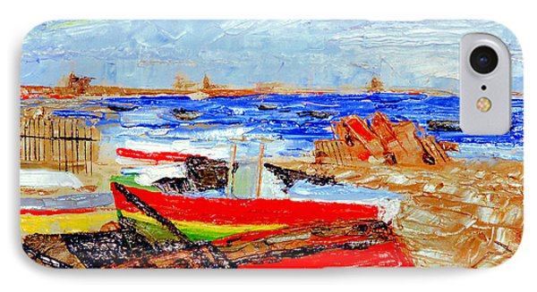 IPhone Case featuring the painting Winter At Provincetown by Michael Daniels