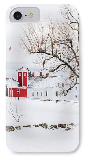 IPhone Case featuring the photograph Winter At Shaker Village by Robert Clifford
