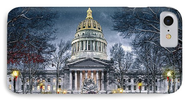 Winter At The Capitol IPhone Case